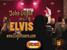 John Gilpin as Elvis Live Video Performance